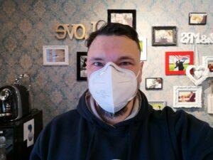 Markus mit FFP2 Schutzmaske