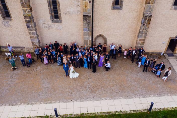 Hochzeit Flugaufnahme